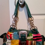 Super Cute Metal and Patchwork Purse