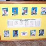 Oakland Athletics 1989 World Champions  Framed