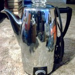 "Coffee Pot/ Peculator ""Sunbeam"" 10 cup ""Art Deco"" Stainless"