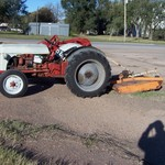 Ford 8 N tractor with mower, loader and 3 point equipment