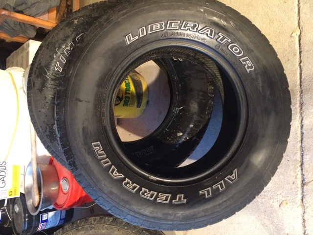 Liberator --Tires for sale 255-70r16 -6ply