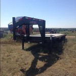 2012 Finish Line 32 Ft. Gooseneck Flatbed Trailer
