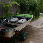 Fun or Fish  Glasstron 12ft ,1997 Evinrude 40 hp