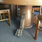 Claw foot table....very old!  REDUCED