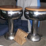 Vintage stools from old soda fountain or grill.