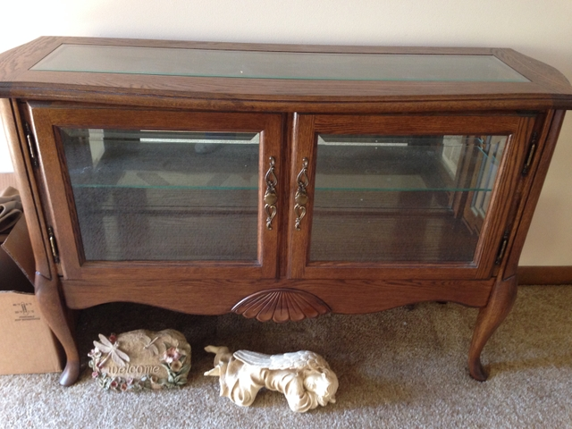 Walnut Curio Coffee Table And Two End Tables Nex Tech