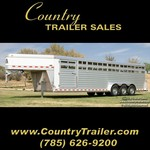 7 1/2 x 28 Elite aluminum stock trailer -New-
