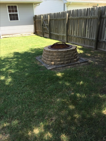 how to build a fire pit with retaining wall blocks