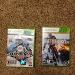 Xbox 360 Madden 25 and Battlefield 4