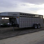 20' Titan Cattle Trailer with Mats