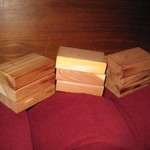 "Red Cedar Blocks- ea. 3"" x 2"" x 3/4"""
