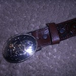 childs cowboy belt with buckle