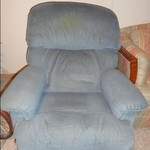 Used Blue recliner for sale