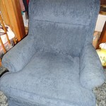 Set of 2 Blue Living Room Chairs in Good condition