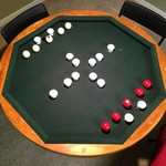 Poker / Bumper Pool / Wooden Table