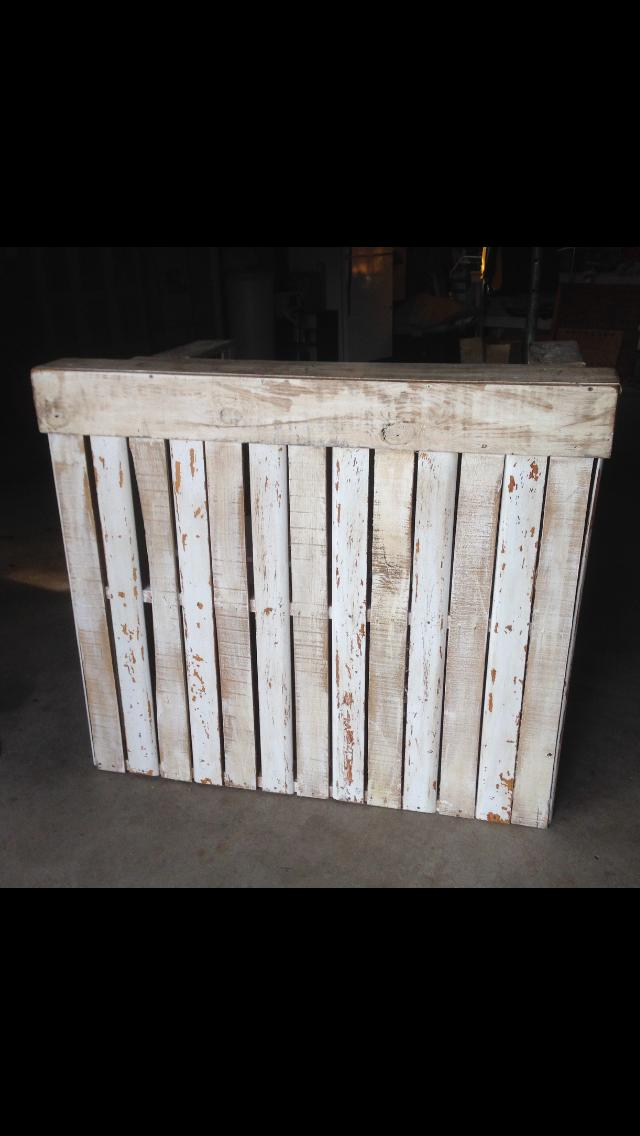 Repurposed Wood Pallet Bar Shabby Chic Distressed