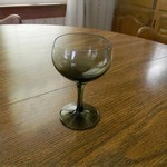 7 glass stem goblets