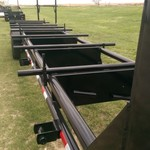 Oilfield tubing pipe trailer
