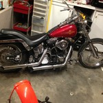 1992 SOFTAIL HARLEY LOWERED AND RAKED