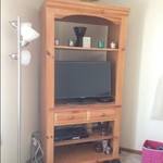 Wood entertainment center