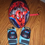 Spiderman Helmet, knee pads and elbow pads