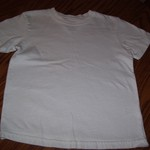 Size 5 plain white shirt