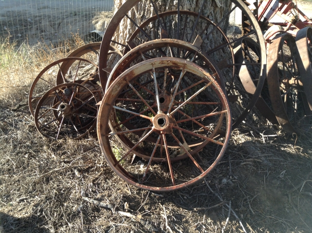 Iron Tractor Wheels : Iron tractor horse drawn implement wheels nex tech