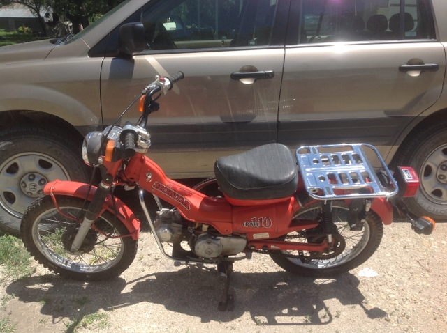 1980 Honda 110 trail motorcycle