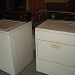 Kenmore clothes washer & dryer, used