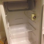 Mini refrigerator (brown and white)
