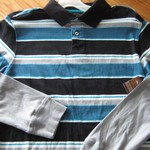 18/20 XL BOYS ARIZONA BLUE BLACK GREY STRIPED LAYERED COLLAR