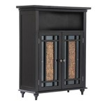 Windsor 2 Door Floor Cabinet Dark Espresso Bathroom NEW