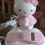 HELLO KITTY ANGEL IN CLOUDS LIGHT UP CORDED PHONE CALLER ID