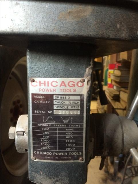 Chicago Power Tools Drill Press Nex Tech Classifieds