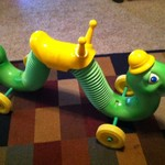 Vintage Inchworm Ride-On Toy