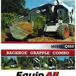 New GrappleHoe Skid Steer Loader Backhoe Grapple