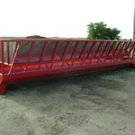 24ft. Notch Mfg. Stationary Slant Bar Hay Feeder w/Inserts