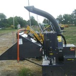 Quick-Attach High Flow Skid Steer Loader Wood Chipper