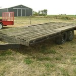Shop-Built Flat-Bed Trailer w/2-Axles---Cheap!
