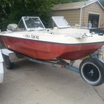 17' boat 85hp evinvrude