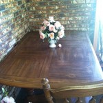 Long dining table w/o chairs