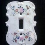 Vintage Arnart Creation Porcelain light switch plate cover