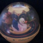 Vintage 1985 Roly Poly Chime Ball