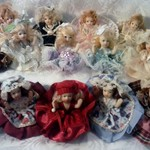 Dolgencorp Victorian Beauty Miniature Porcelain Dolls