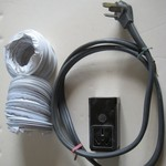 50A range cord and receptacle plus dryer vent hoses