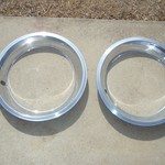 "15"" rally beauty trim rings Corvette Camaro Nova"