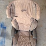 Booster car seat brown