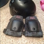 Tony Hawk helmet and pads