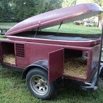 Dog Trailer For Sale  4 hole/6 Dog