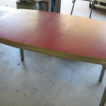 Vintage Chrome/Red Formica Kitchen Table